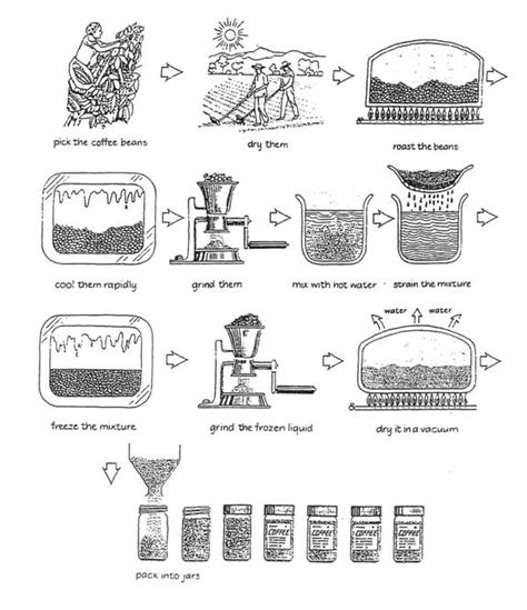 To make coffee, the main things you need are ground coffee, water, and a source of heat. IELTS Sample Charts for Writing Task 1 Practice