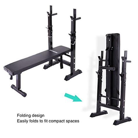 Jaxpety Adjustable Folding Weight Lifting Flat Incline