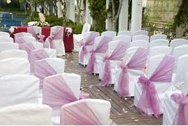 Chaircovers 300x200 Your Winter Wonderland Wedding Wedding Aisle Decorations Paper Posy Holders How To Triangular Prism Aisle Decor Weddingbee Photo Gallery Also I Have To Note That I Have Approximately 26 Chairs To Decorate