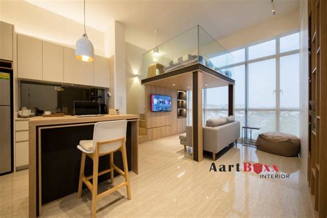 One Bedroom Condo Design Ideas by Studio Apartment Design At Stratum Condo Interior Design