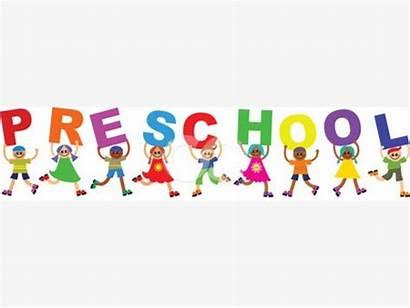 Preschool Clipart Word Children Diverse Schools Royalty