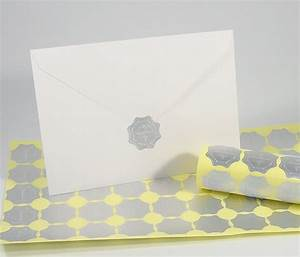 100 pack silver round embossed foil wedding invitation With wedding invite envelope stickers