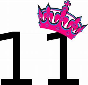 Pink Tilted Tiara And Number 11 Clip Art at Clker.com ...