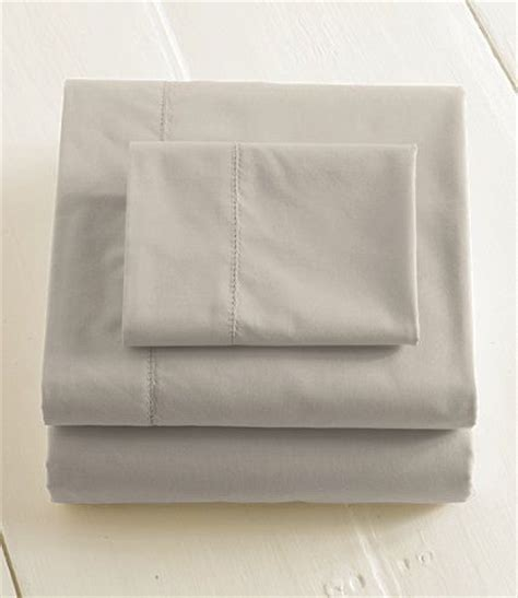 280 thread count pima cotton percale sheet fitted fitted sheets free shipping at l l bean