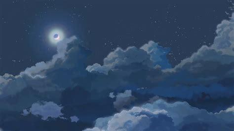 blue anime aesthetic wallpaper