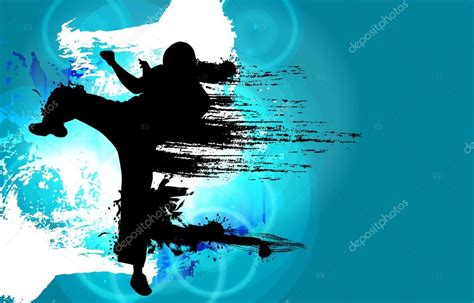 Karate Background Karate Illustration Sport Background Stock Photo