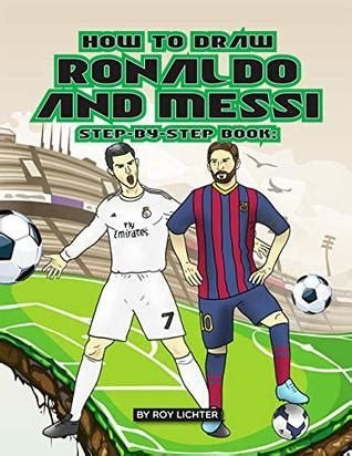 draw ronaldo  messi step  step book easy drawing lessons  kids  learn  draw