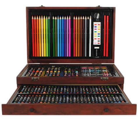 creative gift  piece complete wooden art box set