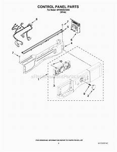 Whirlpool Wfw9050xw00 Parts List And Diagram