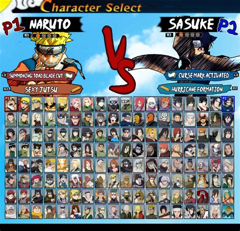 My Ultimate Naruto Roster By Leehatake93 On Deviantart