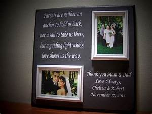 parents wedding gift father of mother of thank you With wedding gifts for dad