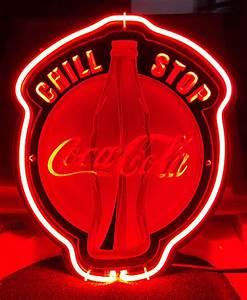 Coca Cola Coke Chill Stop 3D Acrylic Beer Bar Neon Light