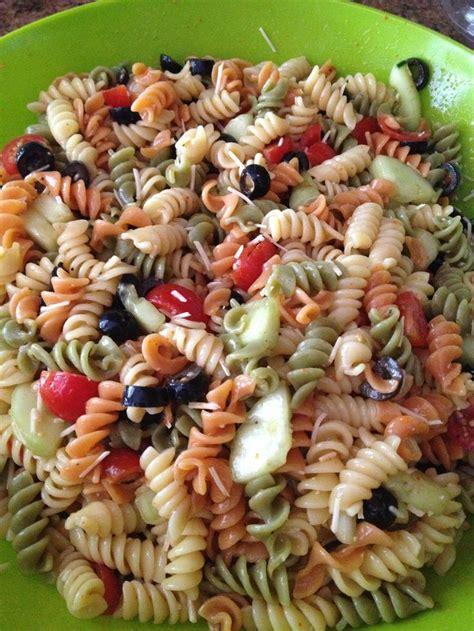 tri color pasta tri color pasta salad recipes italian dressing