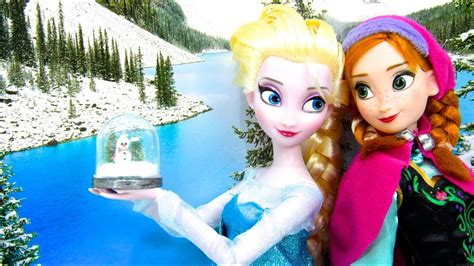 doll snow globe  disneys frozen doll