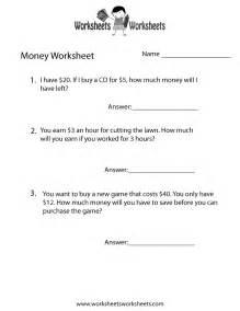 money word problems worksheet  printable educational