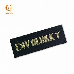 customized personality logo brand garment labels clothes With custom embroidered tags for clothing