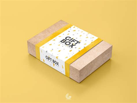 Present your design on this mockup. Free Craft Paper Gift Box Mockup PSD 2018 on Behance