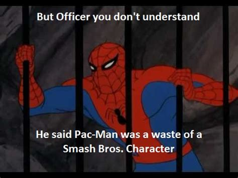 Pac Man Meme - spider man meme smash bros pac man by mm678910onroblox on deviantart