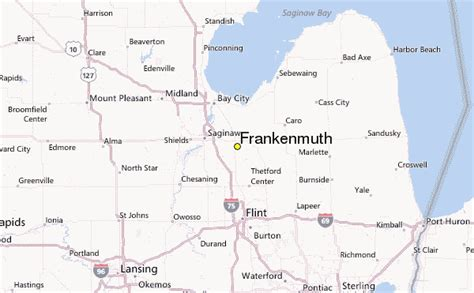 map of frankenmuth mi pictures to pin on pinterest pinsdaddy