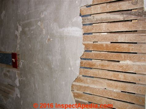 types  wood lath   plaster  stucco