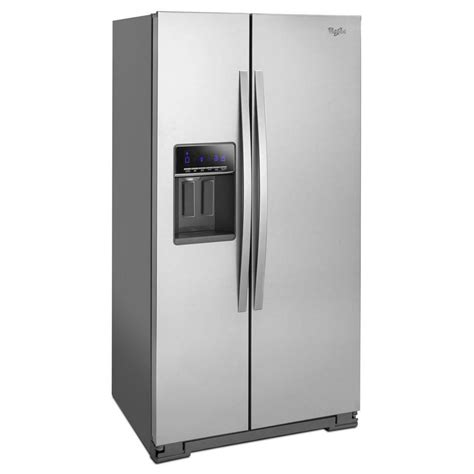cabinet depth refrigerator wrs571cidbwhirlpool 36 quot 21 cu ft counter depth side by