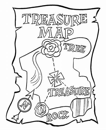 Coloring Cartoon Pirates Pirate Pages Treasure Map