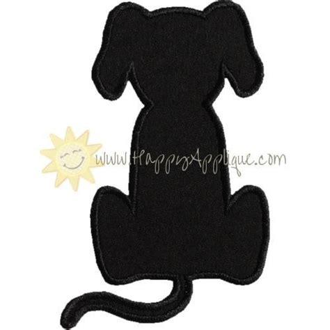 sitting dog silhouette applique design dog silhouette