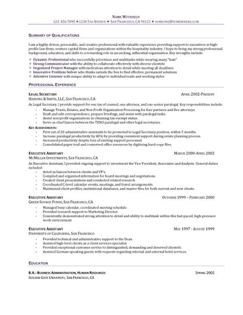 General Administrative Resume Objective by College Administration Sle Resume Brochure Template On Word Outline