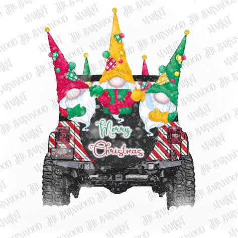 If you like the file click here to make a donation even $1 sublimation designs perfect for shirts, mugs, pillows, and other. Merry Christmas Gnomes Jeep PNG Clipart Christmas Instant ...