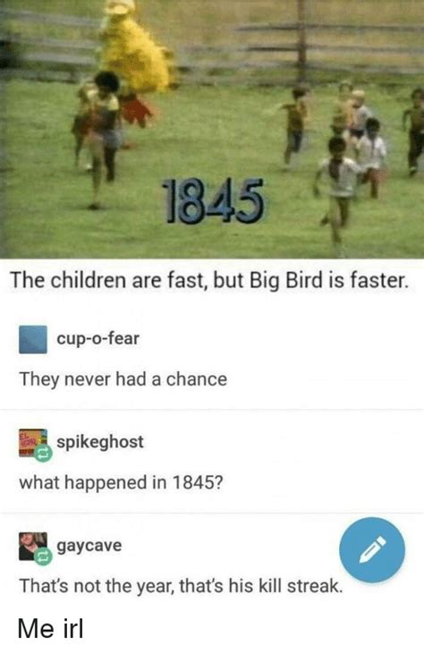 Fast Bid 1845 The Children Are Fast But Big Bird Is Faster Cup O