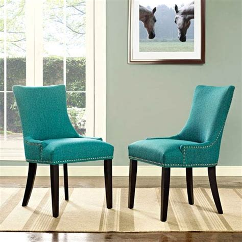 marquis fabric dining chair  teal modway furniture side