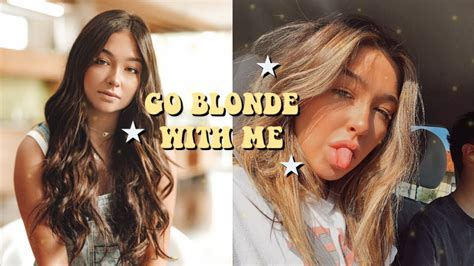 Go Blonde With Me Brunette To Blonde Hair Transformation