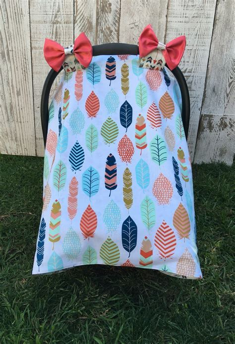 Custom Baby Girl Car Seat Cover Set Boho Chic Car Seat