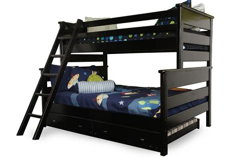 Mathis Brothers Beds by Trendwood Laguna Black Cherry Bunk Bed With