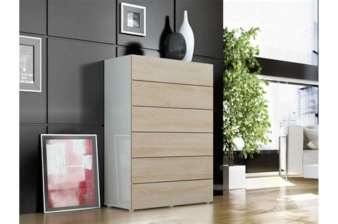 Commode A 6 Tiroirs by Armoire Commode Moderne 6 Tiroirs Novomeuble