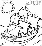 Ship Coloring Pages Mayflower Print Drawing Getdrawings sketch template