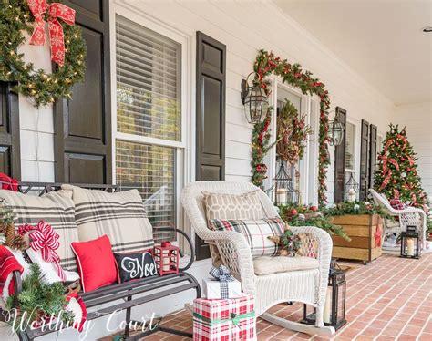 urban farmhouse christmas front porch blogger home