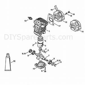 Stihl Ms 211 Chainsaw  Ms211z  Parts Diagram  Cylinder