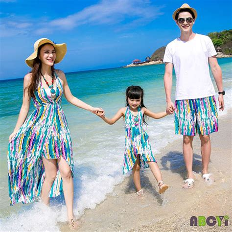 family matching striped pullover summer family set clothing 2015 clothes sport suit