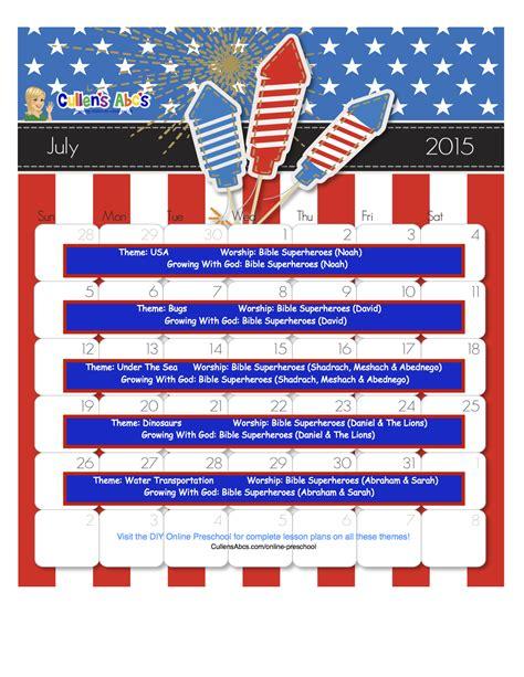 preschool calendars preschool and children s 603 | July Online Preschool Calendar 2015