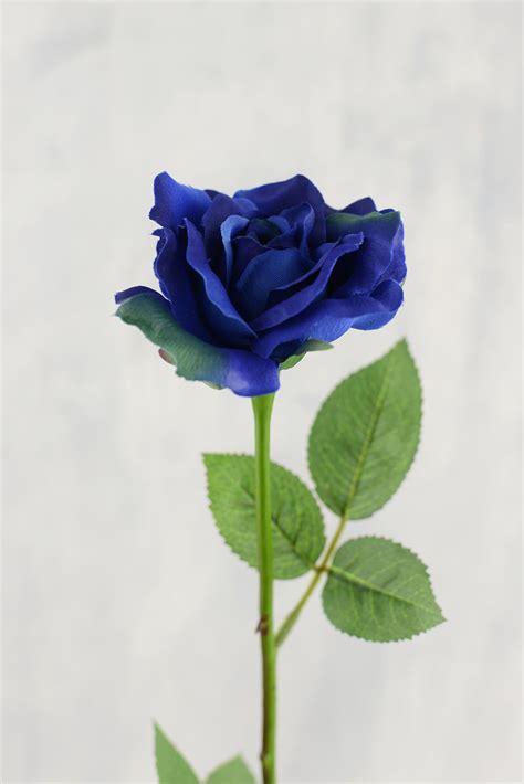 preserved flowers 12 blue silk roses 23in