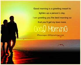 Sweet Good Morning Love Messages