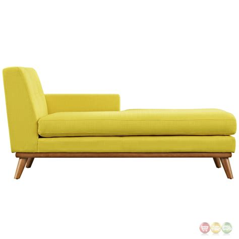 engage modern button tufted upholstered  arm chaise sunny