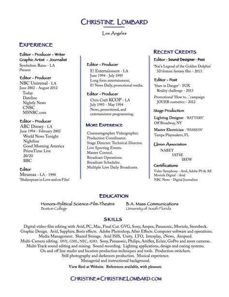 Videographer Resume by Resume Videographer