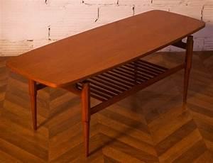 Table Basse Scandinave Vintage : table basse vintage rectangulaire teck design scandinave ann es 50 1950 ~ Teatrodelosmanantiales.com Idées de Décoration