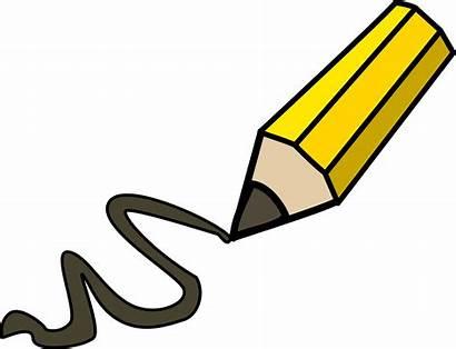 Pencil Clipart Clip Drawing Doodle Writing Transparent