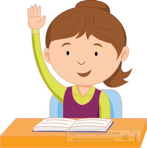 Raise Clipart School Clipart Student Raising In The