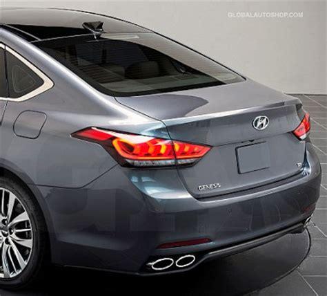 2015 Hyundai Genesis Accessories by Hyundai Genesis Rear Chrome Trunk Lid Trim Rear Chrome Trim
