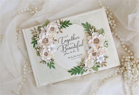 Wedding guest book wedding sign book green wedding