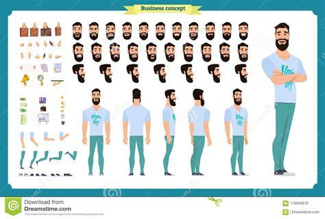 cartoon face parts vector illustration cartoondealercom